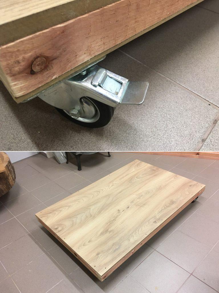 hotová spodná konštrukcia búdy